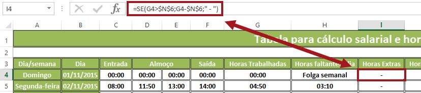 Planilha para o cálculo de horas trabalhadas e salário devido V12.0 no Excel