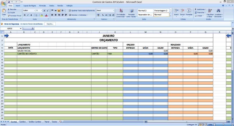 Planilha para controle total do seu cartão de crédito no Excel 4.0