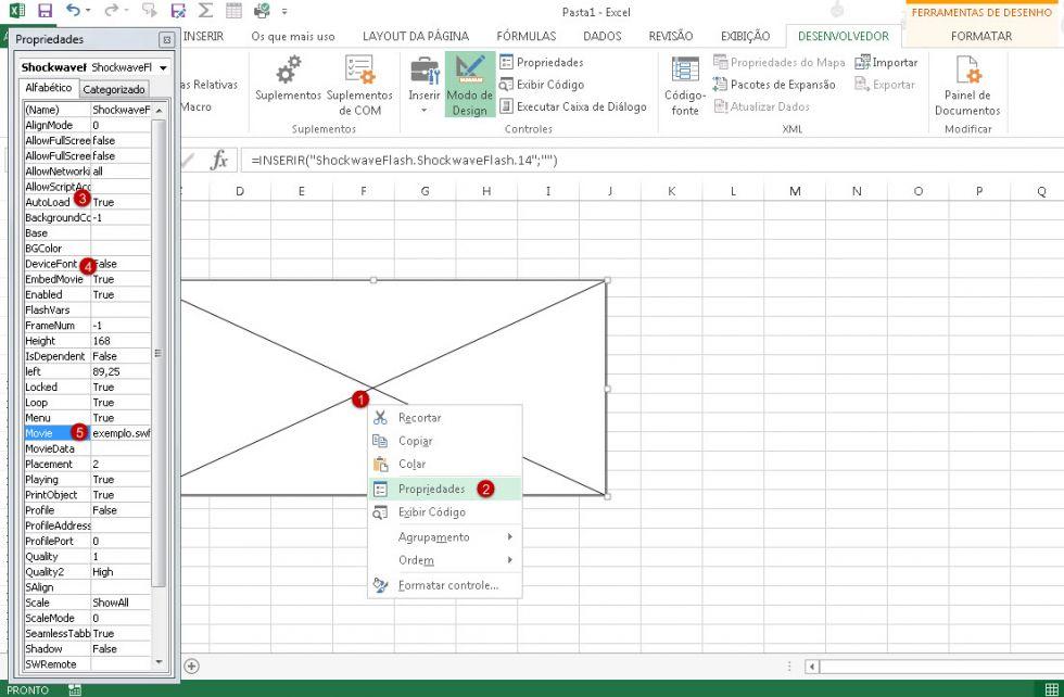 Como inserir flash (swf) em sua planilha no Excel
