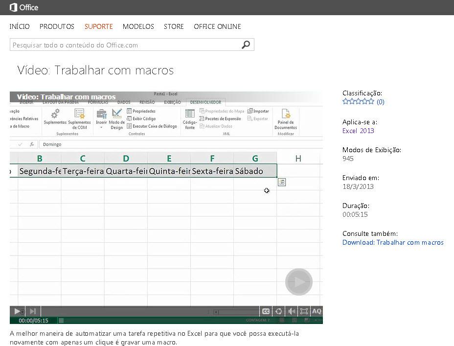Cursos GRÁTIS para Excel da Microsoft