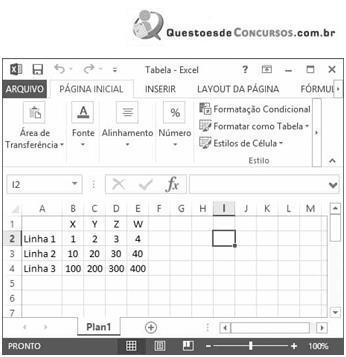 Questões resolvidas e comentadas de Excel (parte 2)