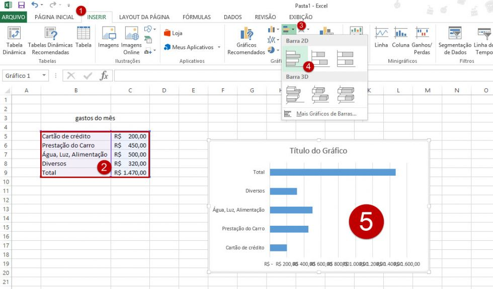Como criar um pictograma no Excel