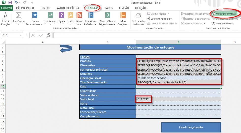 Como mostrar fórmulas ocultas no Excel