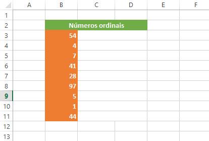 Como criar números ordinais no Excel