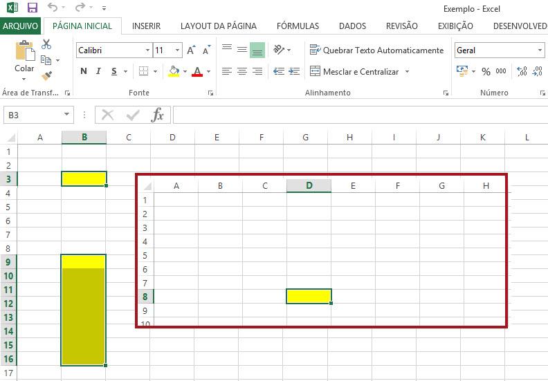 Realçando a célula ativa através de uma VBA no Excel