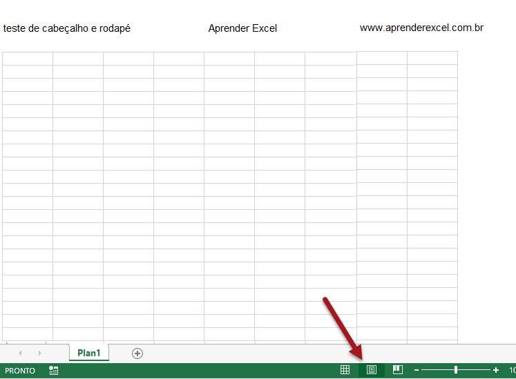 Adicionando cabeçalhos e rodapés no Excel