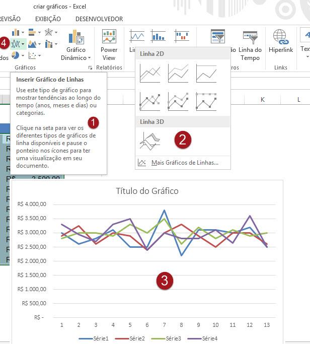 Como criar gráficos no Excel (Aula 1)