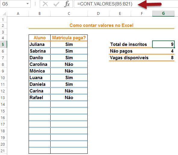 As diversas maneiras de contar no Excel