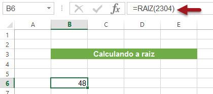 Calculando a Raiz Quadrada e a Raiz Pi Quadrada no Excel