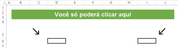 Permitir a seleção apenas de células específicas no Excel
