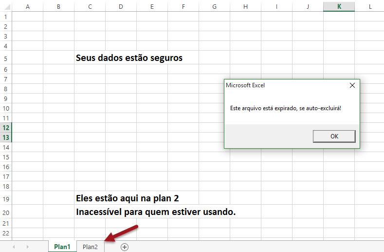 VBA para autoexcluir planilha antes ou após uso no Excel