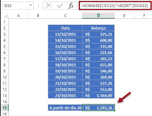 Utilizando data como condição em uma fórmula no Excel