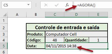 Registrando data e a hora de alteração no Excel sem VBA