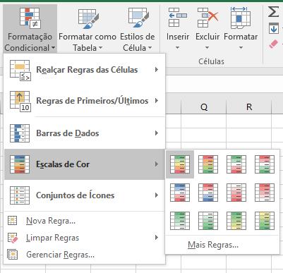 Aplicando escalas de cor nos seus dados do Excel