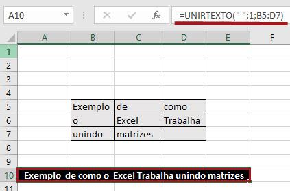 Função =UnirTexto()