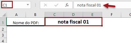 Planilha geradora de PDF (nota fiscal, pedidos, ordem de compra, etc.) 3.0
