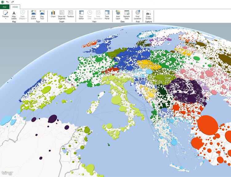 Como criar mapas 3D e inserir dados no Excel