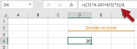 Como dividir no Excel - divisão