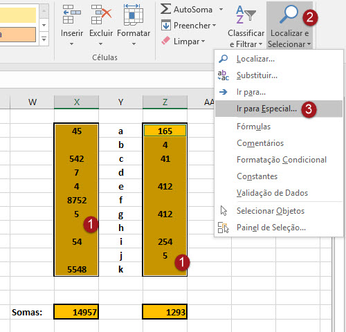 Como apagar células em branco no Excel