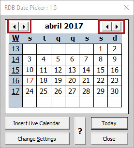 Inserir seletor de datas no Excel
