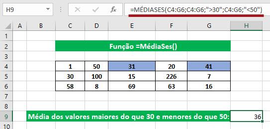 Calcular a média condicional no Excel =MédiaSe() e =MédiaSes()