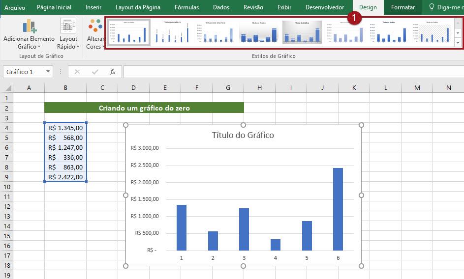 Como criar um gráfico no Excel a partir do zero