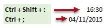 Como inserir a data e hora atual no Excel