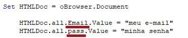 Como fazer login automático em qualquer site com VBA
