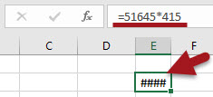 Como resolver o erro #### no Excel