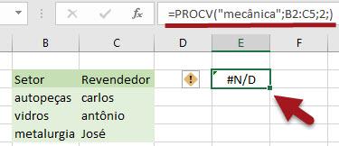 Como resolver o erro #N/D no Excel