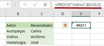 Como resolver o erro de #REF! no Excel