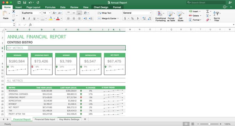 Versão do Excel 2016 para Mac