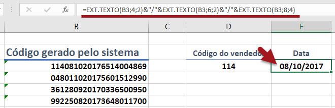 Como selecionar partes especificas dos valores de uma célula
