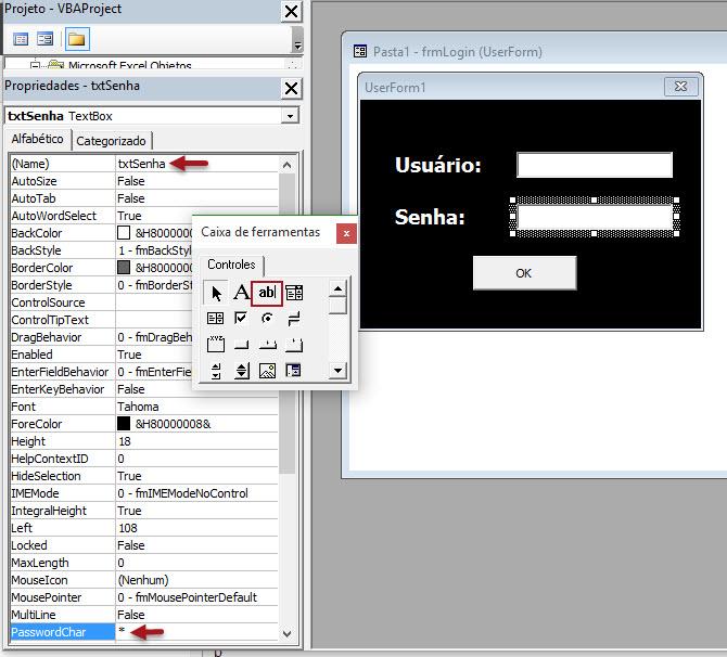 Como fazer uma tela de login no Excel