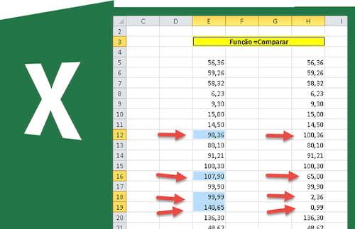 Compare valores e ache os repetidos no Excel
