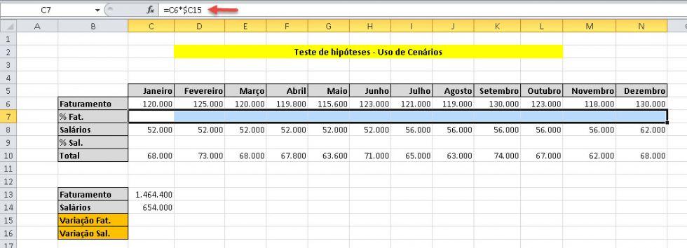 Teste de Hipóteses no Excel (parte 1) Teste de cenários