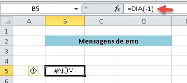 Veja o erro acima pois como esta é uma função serial não aceita uma série negativa.