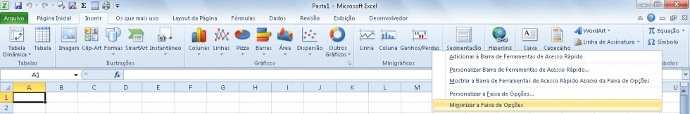 Personalize seu Excel