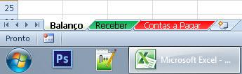 Mudando a cor e o nome das guias no Excel