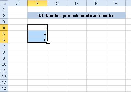 Como usar a alça de preenchimento automático no Excel