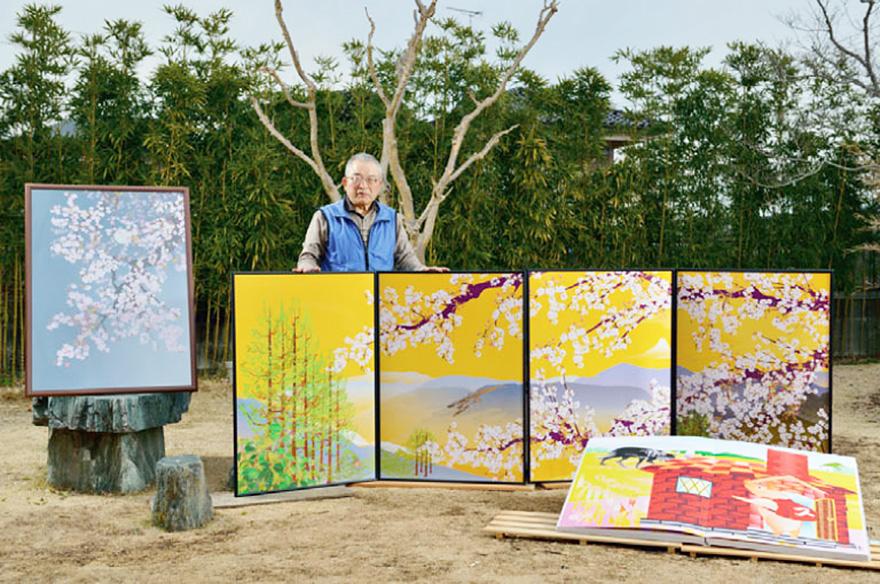 O senhor Hiriuchi e seus trabalhos