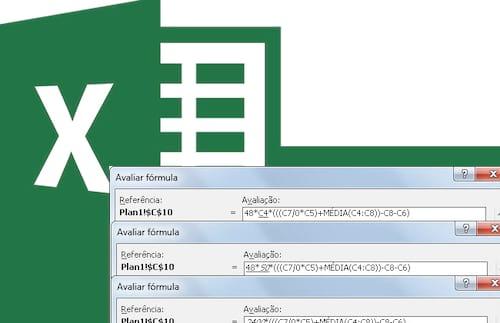 Avaliando uma fórmula passo a passo no Excel