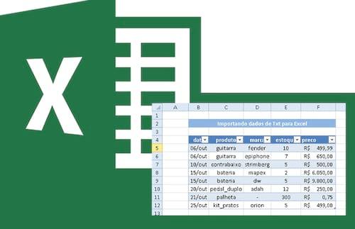 Importando dados de arquivos TXT e outras fontes para Excel