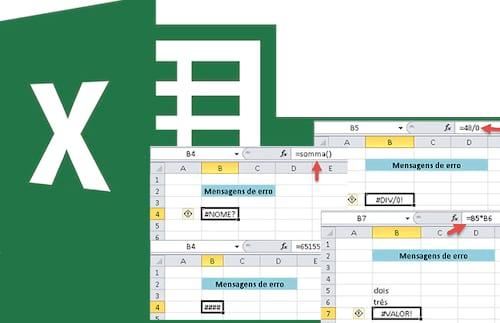 Identificando e resolvendo os tipos de erro no Excel