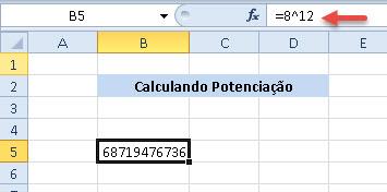 Como efetuar cálculos de potenciação no Excel