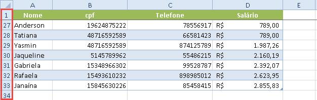 Como congelar linhas ou colunas no Excel