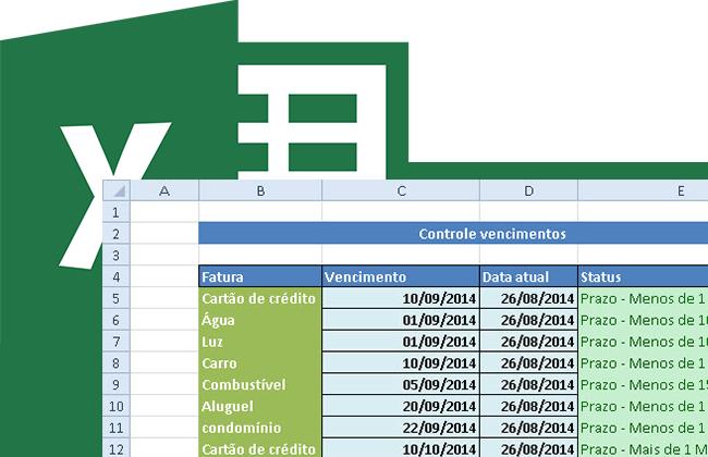Planilha para controle de datas de vencimento no Excel 4 0