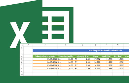Planilha de controle de combustível no Excel 3.0