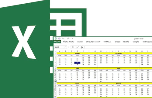 Como criar um calendário anual no Excel 2016, 2013 ou 2010