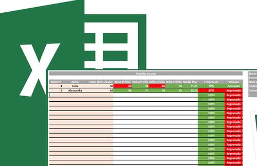 Planilha de notas escolares (para professores) 4.0 no Excel